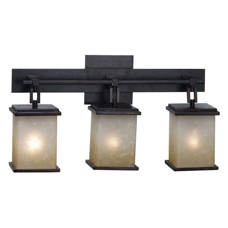 Kenroy Home 03374 Plateau 3-Light Vanity Light Bar - 21W In. Bronze Finish