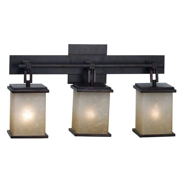 Kenroy Home 03374 Plateau 3-Light Vanity Light Bar - 21W in. Bronze Finish - 3374