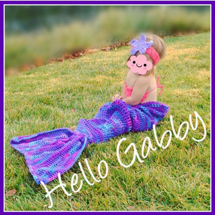 Mermaid Tail Pattern- Baby Toddle Child Young Teen and Adult Bundle #Crochet #MermaidTail