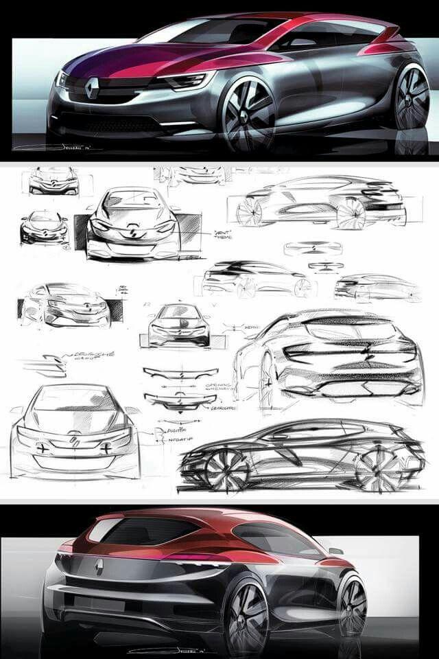 Renault Clio V proposal by Antoine Pelleau https://www.behance.net/AP29
