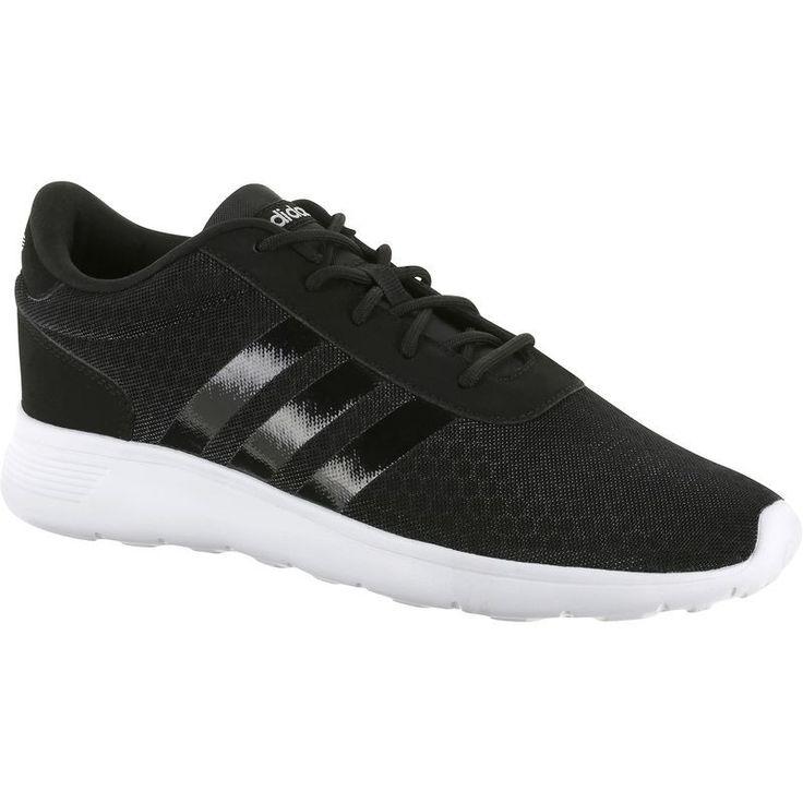 Freizeitschuhe Sneakers Sommer leicht Lite Racer Damen schwarz/weiß ADIDAS
