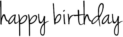 001 happy birthday in cursive Pretty Greetings Pinterest