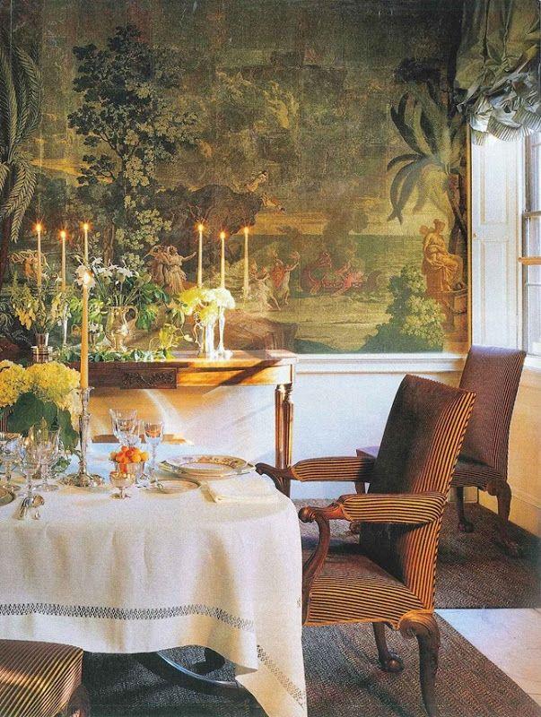 Dining room by uk designer john stefanidis all four for John stefanidis interior design