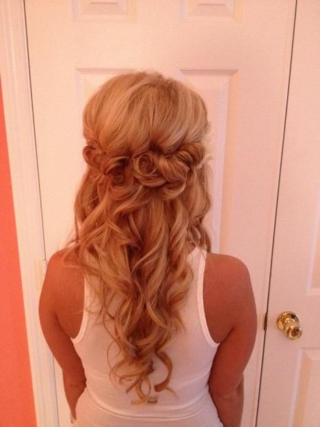 Half up half down idea for me. Although the top is too teased.
