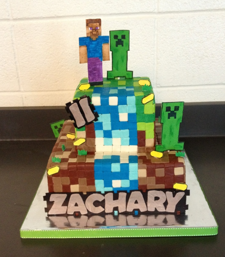 Minecraft Images For Cake : Minecraft Cake My Cakes Pinterest Personalized cakes ...