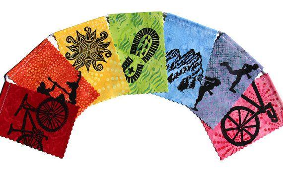 Gratitude Flags, Outdoor Adventure, Prayer Flags (small) (Made with original…