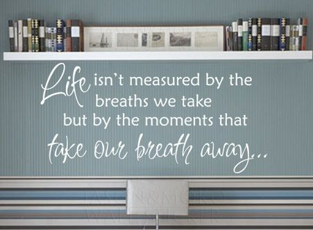 Moments that take our breath away wall sticker. www.theprettycollection.co.za