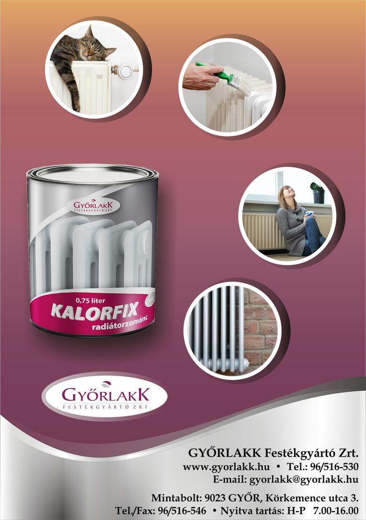 Kalorfix radiátorzománc festék Megsárgult, megfakult radiátorod újítsd fel egyszerűen, Kalorfix radiátor festékkel! Ha tartós fehérségre, esztétikai megújulásra vágysz, ne felejtsd a legjobbat választani! Több éve bizonyított, magas fényű, rugalmas és nem sárguló bevonatot ad. Minden olyan területen javasolható az alkalmazása, ahol max. 90°C-os hőigénybevétel mellett tetszetős, magas fényű festékbevonatra van szükség.