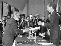 En el premio Príncipe de Asturias.