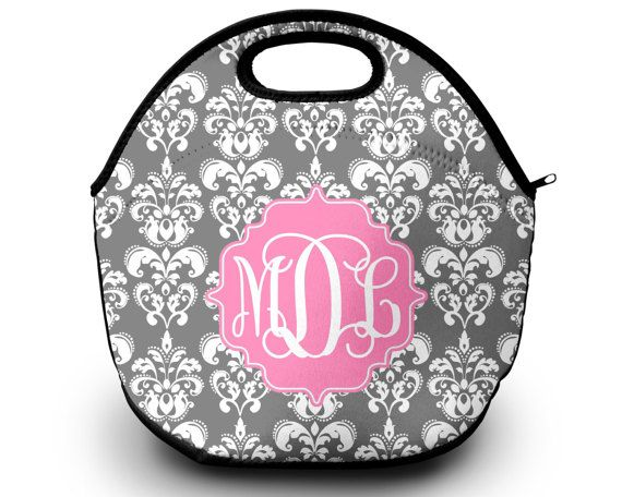 Monogrammed Lunch Box  Monogrammed Lunch Bag Monogrammed Lunch Tote Personalized Lunch Tote Monogrammed Gift Lunch Bag for Women by SassySouthernGals now at http://ift.tt/2BsWQN1