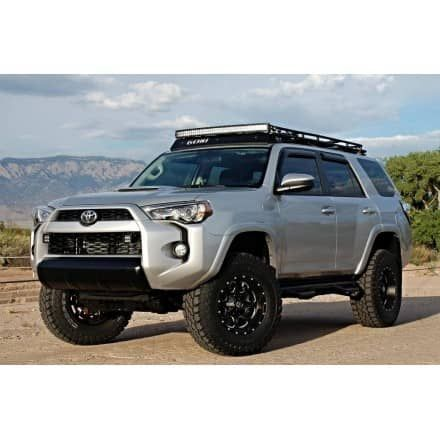"Gobi LED Roof Rack Package	2010-17 Toyota 4 Runner  FREE LADDER, FREE WIND DEFLECTOR, & FREE SHIPPING!Order this Gobi rack and receive a FREE LADDER, FREE WIND DEFLECTOR, and FREE SHIPPING!LIMITED TIME SPECIALFor a limited time receive two rear gas struts with this Gobi roof rack.INCLUDES RIGID E-SERIES 40"" LED LIGHT BAR	Gobi USA offers a line of high quality roof racks, ladders and accessories for your Toyota 4Runner. Gobi racks and accessories are proudly made in the USA.	Gobi leav..."