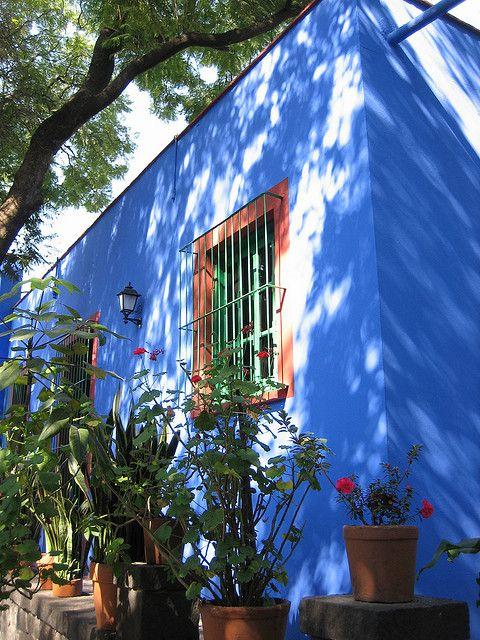 Casa Frida Kahlo, Coyoacan, Mexico City by carlossg, via Flickr