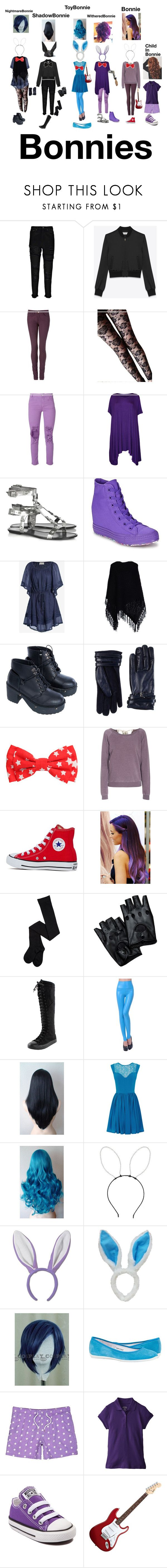 """""""All of the Bonnies"""" by lizziedacrazyginger ❤ liked on Polyvore featuring Boohoo, Yves Saint Laurent, Tommy Hilfiger, Aries, WearAll, belle by Sigerson Morrison, Converse, Love Sam, Don't Miss Your Dreams and Space Style Concept"""