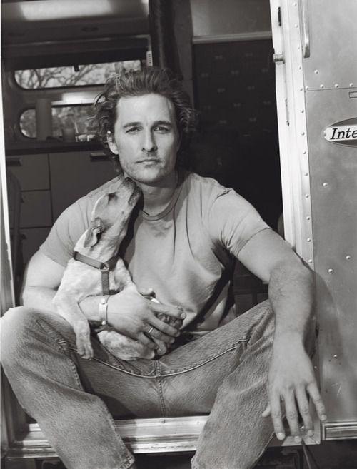 Matthew McConaughey B & W #handsome #man #actor #beard