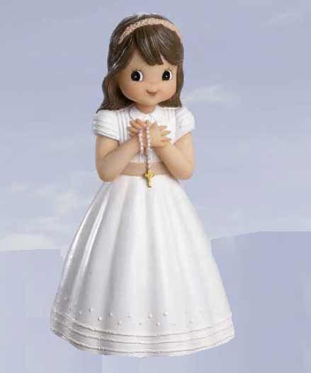 Figura niña Primera Comunión con fajín y rosario Figuras niños para comunión - 1.25 € : Cosas43, detalles y regalos para los invitados, boda, comunión y bautizo, regalos infantiles