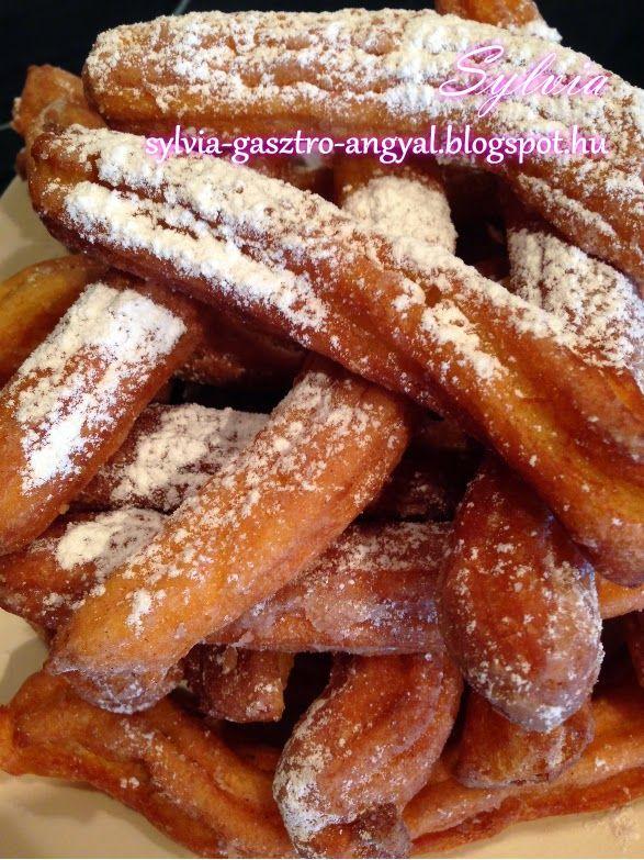 Sylvia Gasztro Angyal: Spanyol fahéjas fánk (Churros)