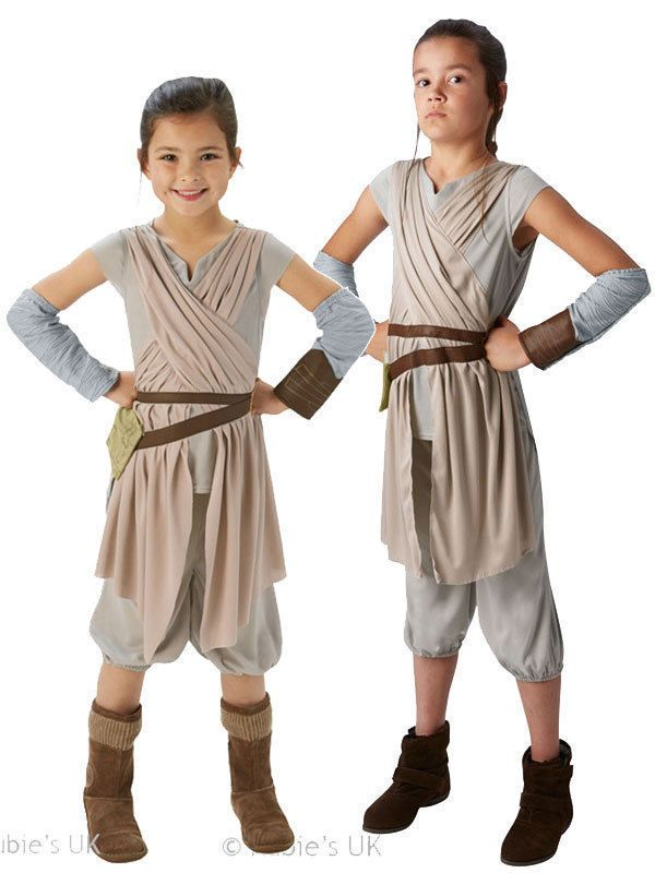 Rey Girls Fancy Dress Deluxe Star Wars The Force Awakens Kids Childrens Costume. Available from our ebay store for £17.95 and our web store. www.party-head.co.uk