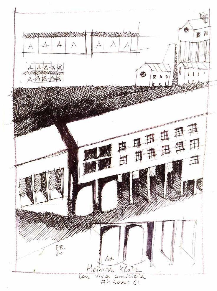 Aldo Rossi -Gallaratese Drawing by shadow