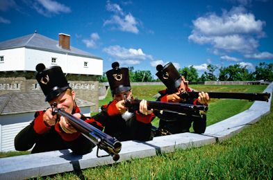 Fort Wellington in Prescott celebrates the bicentennial with reenactments all weekend long. The 1812 Garrison Weekend runs May 19 -21. For all other historical sites in Ontario, check out: http://www.summerfunguide.ca/08/museums-galleries-historical-sites.html #summer #fun #ontario #1812 #bicentennial
