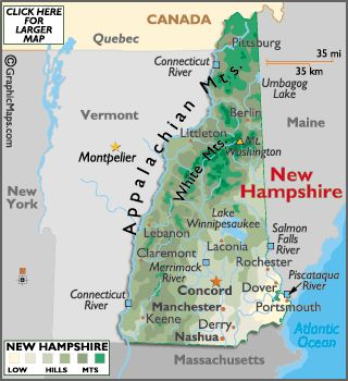 Best USA State Road Maps Images On Pinterest Road Maps - New hampshire in us map