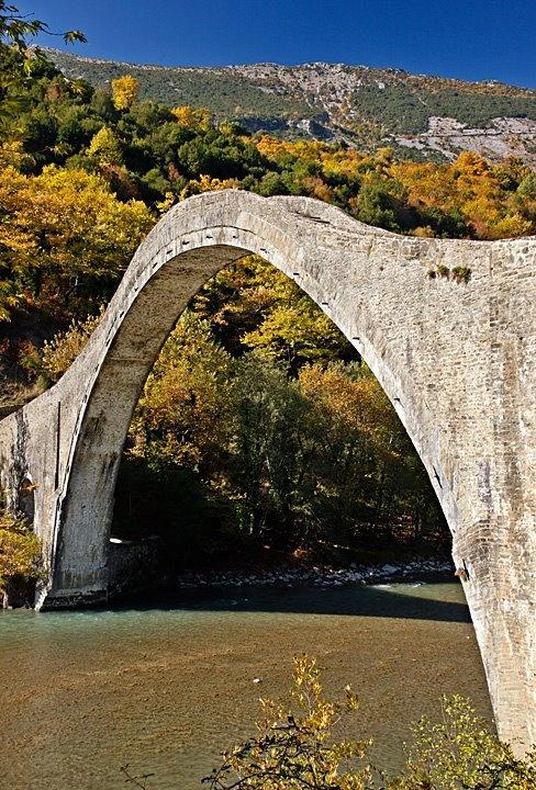 The stone bridge of Plaka-Tzoumerka