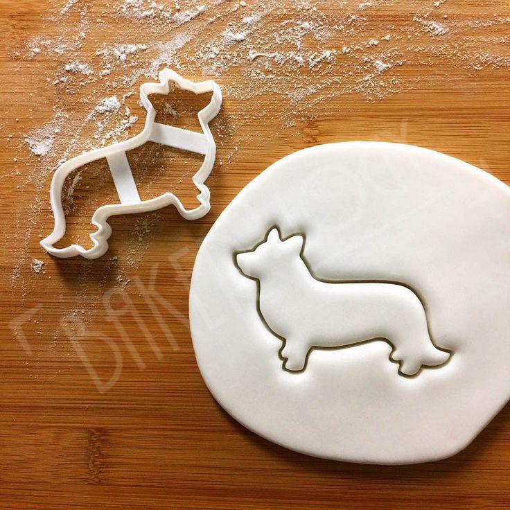 Cardigan Welsh Corgi Dog cookie cutter   to make cute, personalized pet treats  #Bakerlogy