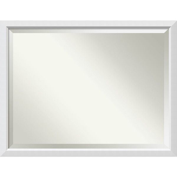Bathroom Mirror Oversize Large, Fits Standard 36-inch to 48-inch Cabinet, Blanco White 43 x 33-inch