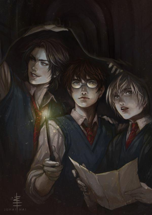 Marauders- Sirius, James, and Peter by juhaihai.deviantART ...