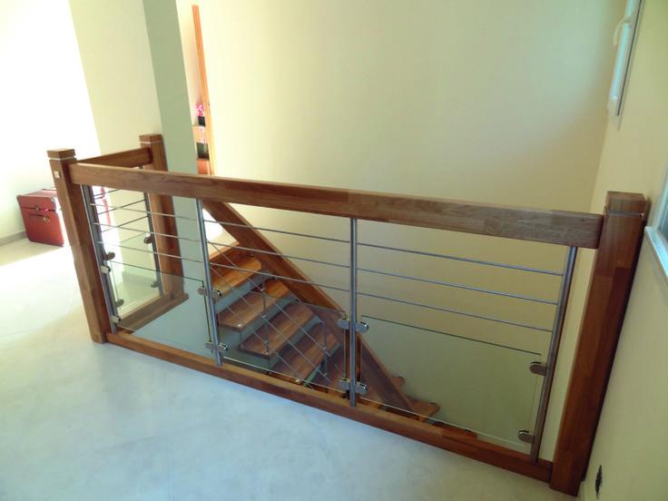 garde corps en verre m tal et bois mezzanine in 2019. Black Bedroom Furniture Sets. Home Design Ideas