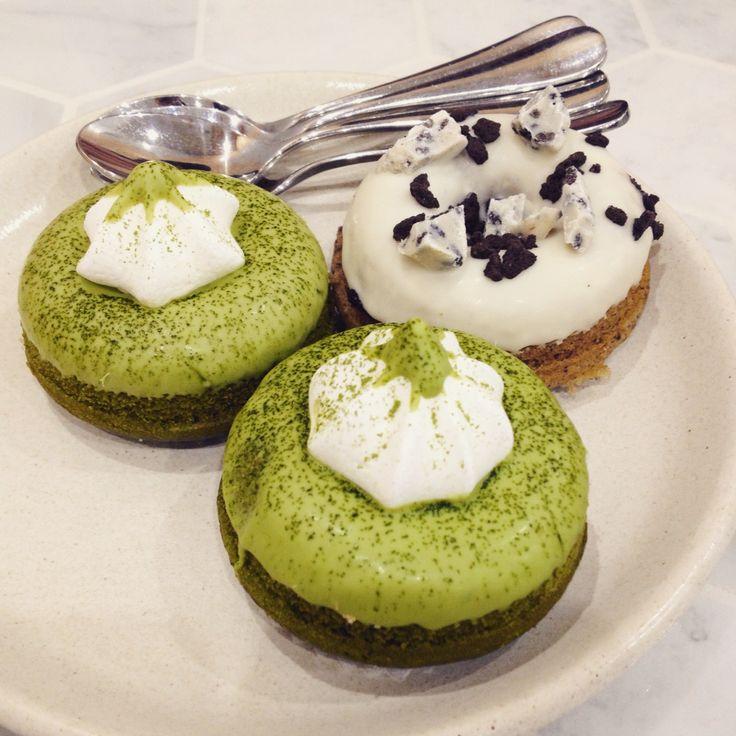 White Mojo (CBD): Matcha and Cookies & Cream doughnuts [7/10].
