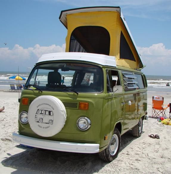 What better way to hang out on the beach?  Florida Oldscool Camper Rentals