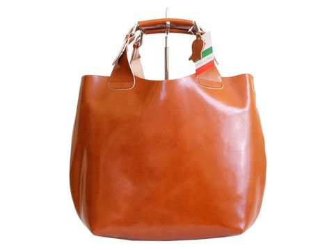 Brown genuine leather tote | SoLime
