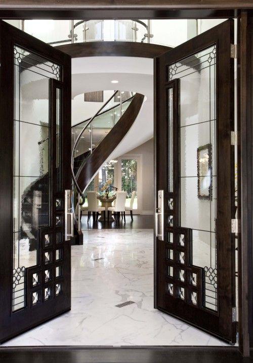 Beautiful contemporary doors.