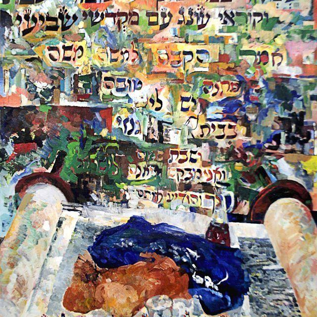 Shabbat prayers oil on canvas by the incredible David Baruch Wolk. Wishing everyone a shabbat shalom.  Click the link in bio  #shabbatprayers#jewishart#jewishartist#jewishwedding#shabbatshalom#shabboskodesh#shabbat#shabbos#shabbosmeal#israel#thesabrapatch#sabrapatchinspiration#oiloncanvas#torah