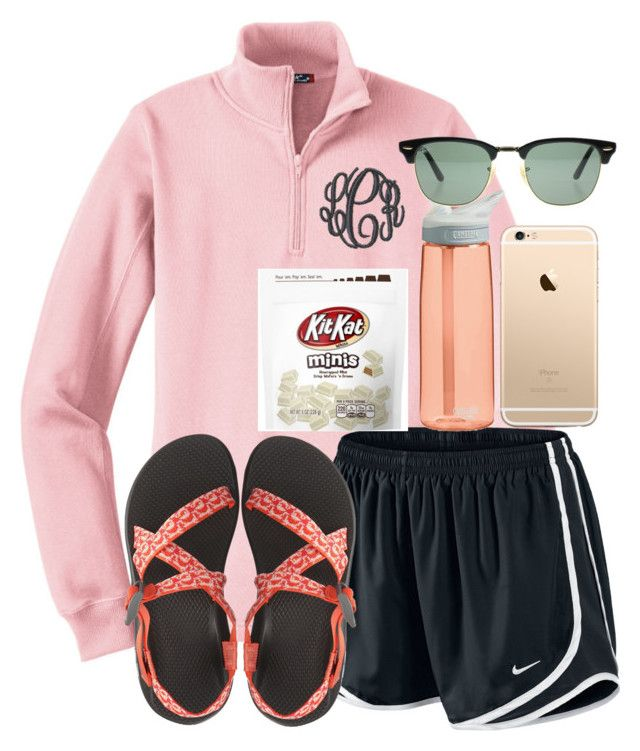 """""""Day 6 {Leaving}"""" by kendall-douglas ❤ liked on Polyvore featuring NIKE, Chaco, CamelBak, Ray-Ban and sydneyscampcontest16"""
