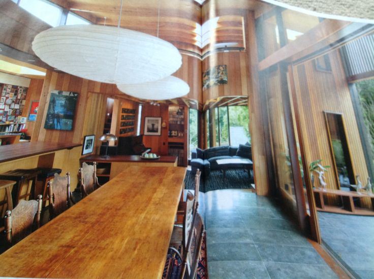The dining room thru to sitting room...from home magazine, thus the middle fold.