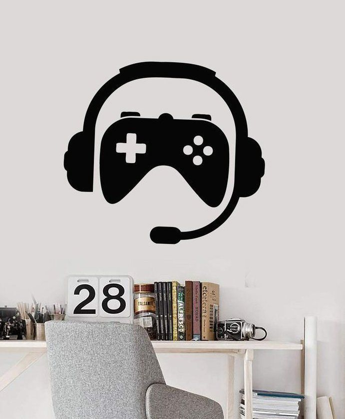 Caution Gamer Wall Art Decal Sticker O112
