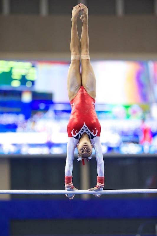 Ashton Locklear--2014 World Championships uneven bars finals