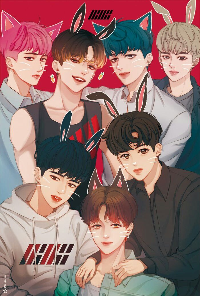 Art by 1star_ikon || #iKON #art #fanart #BI #Hanbin #Bobby #Jinhwan #Yunhyeong #JuNe #Donghyuk #Chanwoo