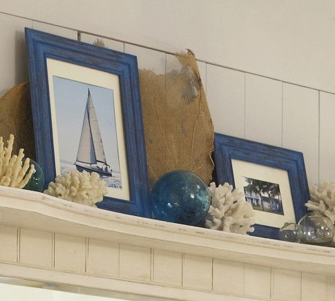 Love this...  Weathered Blue Frames | Pottery Barn