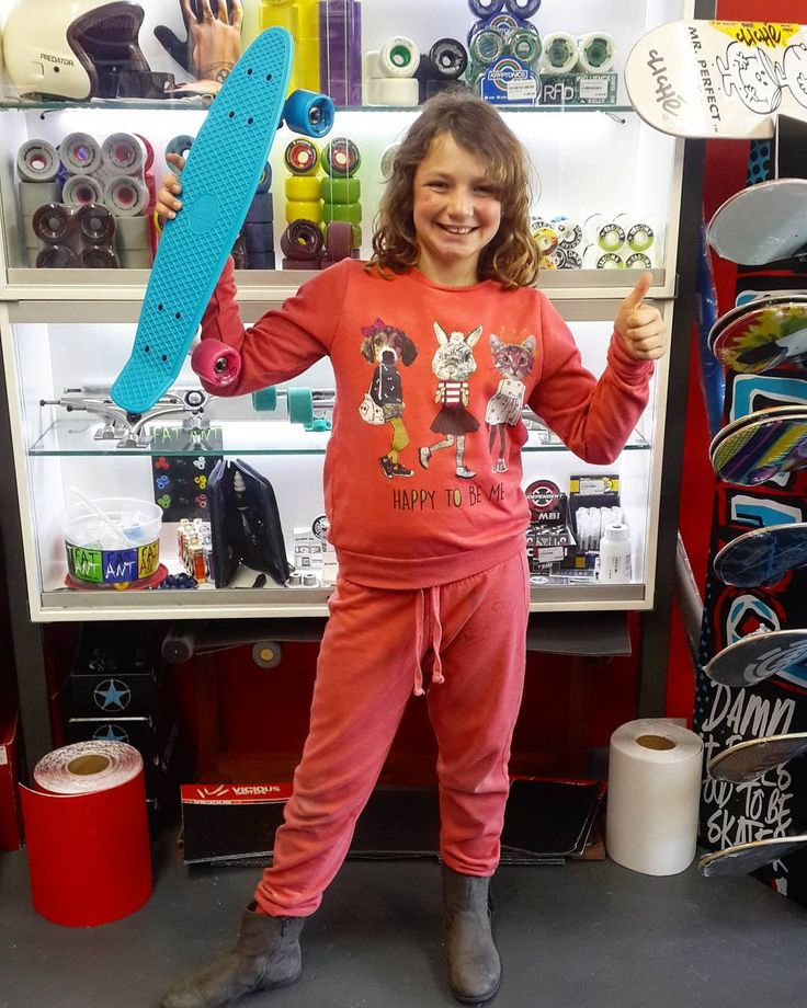 """We are crazy stoked to have been able to wish Gabi a #madstokemonday when she came in to get herself the @weareverb """"Retro Roller"""". Enjoy it skate safe & stay stoked!  Welcome to the #csskateshopfam!   #csskateshop x #verb"""