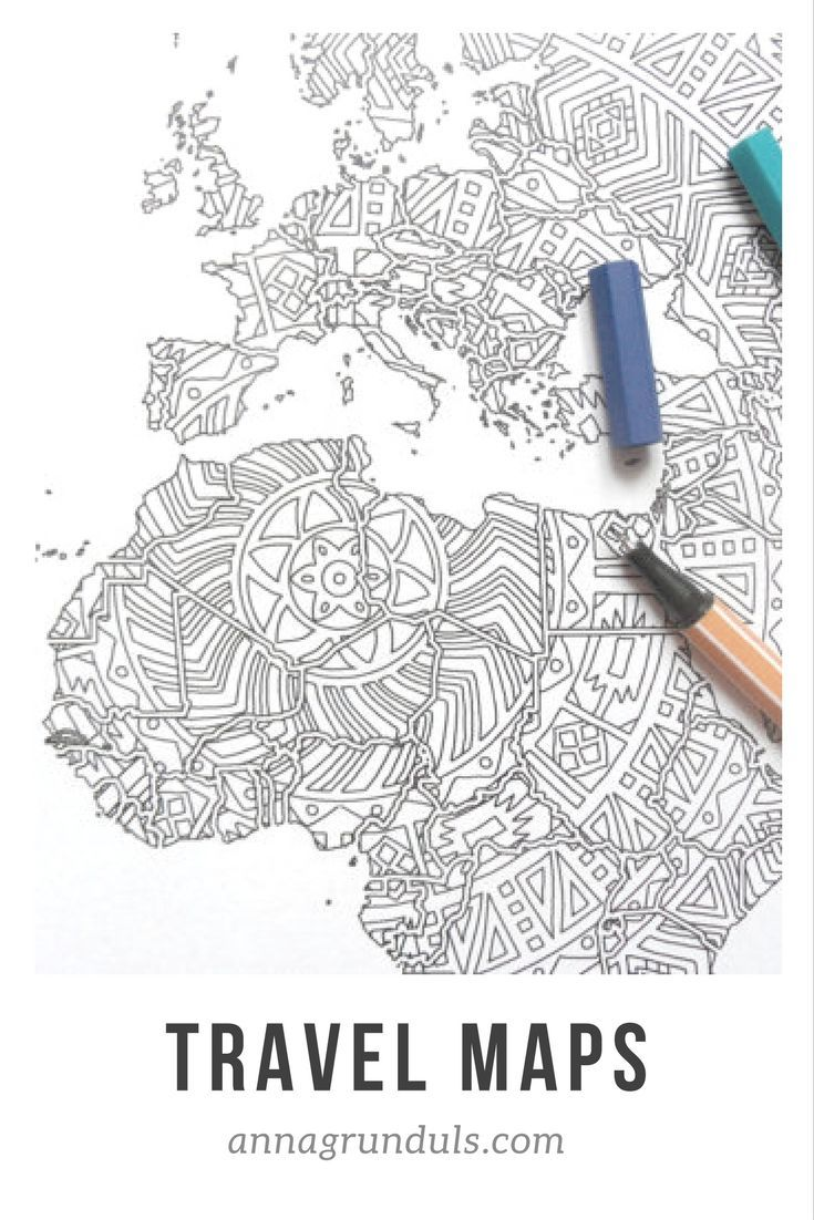 Coloring pages are said to be very good for children starting the primary school. They start it so early now and many of them have trouble focusing, but coloring teaches them concentration and it's fun! ♥️ This poster will also help them learn them about the political map of the world in a fun way! I always had a hard time remembering the map in the geography classes - oh how I wish I had the poster back than!