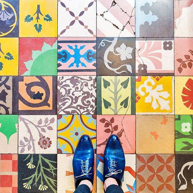 75116 - Rue de Passy  getting ready for a special week to come with some tuttifruttiles  - bon weekend everyone -  #parisianfloors#ihavethisthingwithfloors#fromwhereistand#selfeet#paris#tiles#tuttifruttiles#carrelage#mosaic#floor#tiletheworld#feetmeetfloors#architecture#pattern#design#interiordesign#artdeco#shoes#leathershoes#patina#andressendra