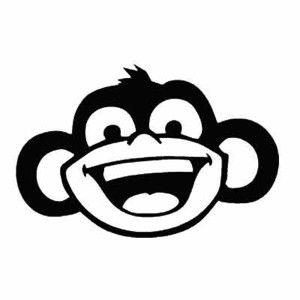 трафарет шаблон обезьяны на новый год