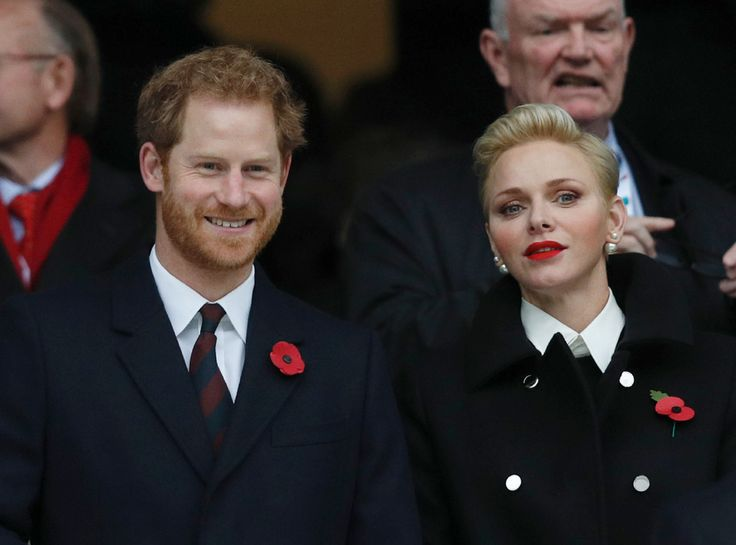 Prince Harry with Princess Charlene