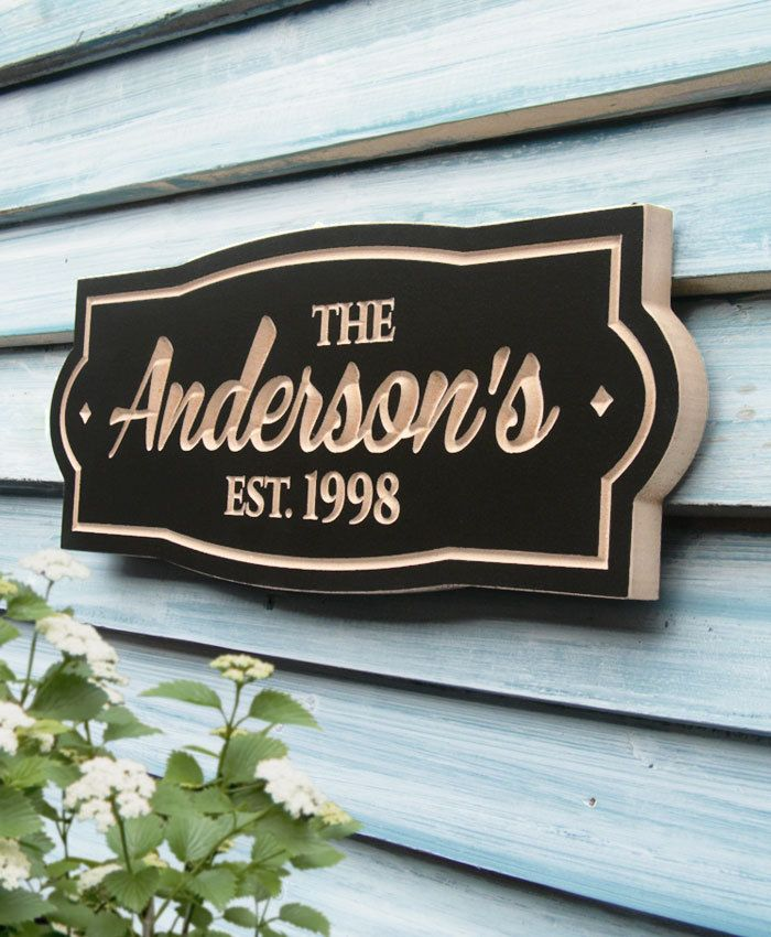 Family Name Plaque by WoodDesigners on Etsy