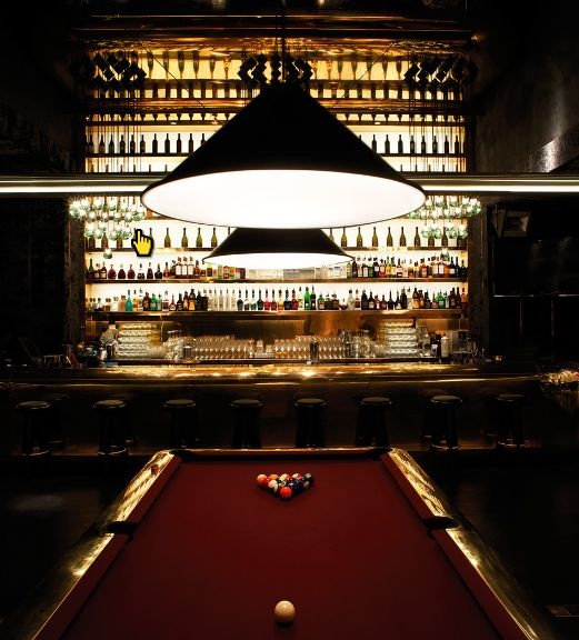 snooker table. Tazmania Ballroom in Hong Kong Earns Prestigious Best International Bar Award