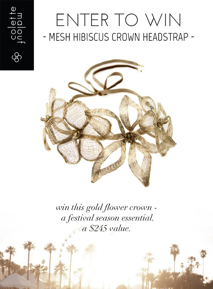 Couldn't make it to #Coachella? Don't sweat it! Bring the festival fun & style to you by entering to win our gold flower crown! Click here to enter: http://woobox.com/bxbg4k