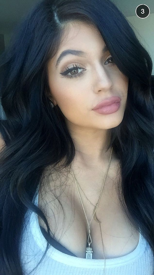 Kylie Jenner Shows Off Full Lips, Lots of Cleavage and Rumored Boyfriend Tyga in Snapchat Selfies?See the Pics!