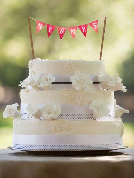 Wedding Cake Banner, PRINTABLE Cake Topper, Watercolor Wedding, Watercolor, Printable Wedding Banner, Wedding Cake Banner, Bridal, Flags,
